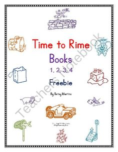 Time to Rime Books 1, 2, 3, 4 Freebie from The Specialty Shop on TeachersNotebook.com (14 pages)  - Word families at, am, an, ap, ag, ig, in, ip, ot, og, op, un, ub, ug, ump, et, en, ed, ate, ake, ay, one, eep, ine, ite, ice, ide, own, eat, ow, ight, ail, all, old, ick, ack, ock, uck, ell, ill, ook. Word Work cvc, ccvc, cvcc, ccvcc words