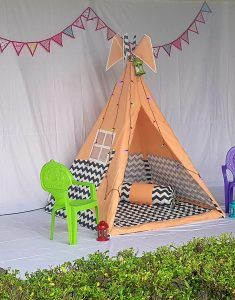Kids Teepee Tent, Play Tents, Tent House For Kids, Bamboo Poles, Pink Stars, Hand Quilting, Floor Mats, Hanging Chair, Mattress
