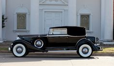 oldschooliscool:  1933 Packard Super Eight Model 1004 Convertible Victoria. New, in basic form, this body style was $3440 on the Super Eight chassis, plus the factory accessories. To put that price into perspective, this car was roughly ten times the price of an average Ford.