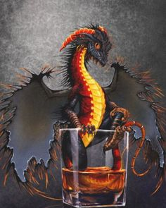 Drink themed dragons by Stanley Morrison. Featuring the awesome Rum Dragon. Dragon Series, Dragon Artwork, Fantasy Dragon, Canvas Prints, Art Prints, Vacation Pictures, Beautiful Moments, Rum, Dragons