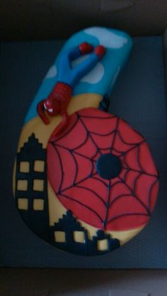 Spiderman cake by Sheila's Cake Creations Essex Uk