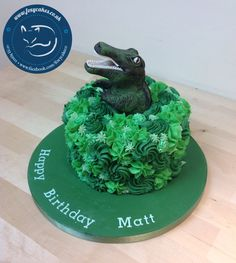 Crocodile cake, made by The Foxy Cake Co!