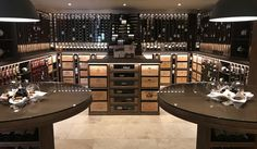 A Dedicated Wine Room can Glam Up Your House Wine Cellar Racks, Wine Rack Wall, Wine Refrigerator, Wine Fridge, Caves, Wine And Spirits Store, Bar A Vin, Wine Cellar Design, Luxury Bar