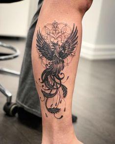Phoenix Tattoo Feminine, Phoenix Tattoo For Men, Phoenix Tattoo Design, Foot Tattoos, Body Art Tattoos, Sleeve Tattoos, Tatoos, Hip Tattoos Women, Tattoos For Guys