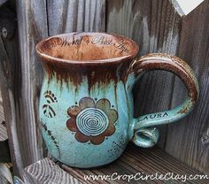 #STASHTEAmuglove  from cropcircleclay on etsy