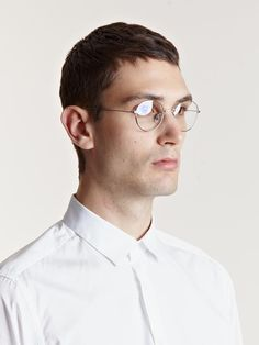 f7c7e6e63d7 Garrett Leight x Mark McNairy men s Circular Silver Optical Glasses Stylish  Mens Outfits