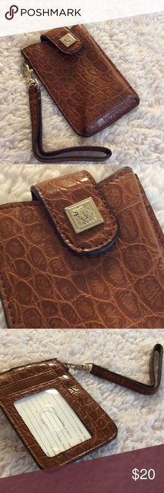💞Anne Klein💞phone & card holder Never used, made of quality leather Anne Klein Accessories Phone Cases
