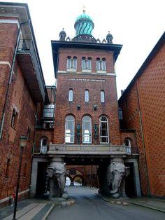 The Elephant Gate (Danish: Elefantporten), also referred to as the Elephant Tower (Danish: Elefanttårnet), is the most famous landmark of the Carlsber