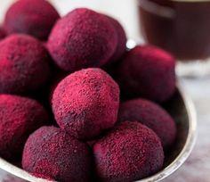 Hot pink Valentine's amaretto truffles (GF)