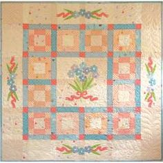 What a cute pattern for a quilt. I can see different embroidery and colors to use.