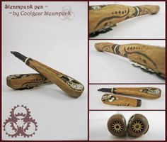 #steampunk pen http://www.pinterest.com/TheLadyApryle/if-there-be-steam/