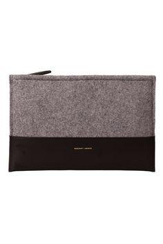 Sophie Merchant Archive | Grey felt zip pouch | Clutch bag
