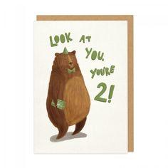 2nd Birthday Bear Greeting Card | Ohh Deer