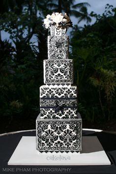 """Aren"" wedding cake by Rick Reichart, cakelava."