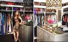 Khloe 's Closet Ciao! newport beach: closets are a girls best friend Big Closets, Dream Closets, Walk In Wardrobe, Walk In Closet, Room Closet, Master Closet, Khloe Kardashian Closet, Kim And Kourtney, Celebrity Closets