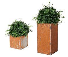 Rustikke blomsterkasser