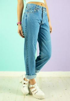 90S LEVI'S 501 JEANS IN BLUE STONE WASH