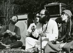 Gary Snyder, Michael McClure, and Alan Ginsberg at the Be-In, 1967.  Photograph: Photographer: Gene Anthony/Gene Anthony