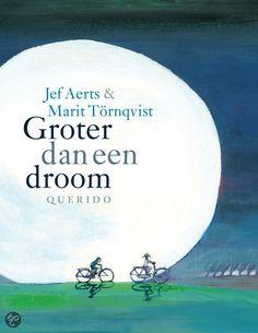 Jef Aerts & Marit Törnqvist - Groter dan een droom    Querido Kinderboek 2013    Prentenboek    Groter dan een droom is een troostrijk verhaal waarin een jongen zijn overleden zusje voor het eerst ontmoet. Samen maken ze een onvergetelijke reis die precies één nacht duurt.    http://www.bol.com/nl/p/groter-dan-een-droom/9200000006380048/