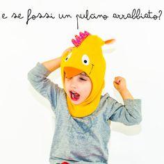 Cappello  sciarpa per bambini a forma di animale di Lunapolpetta