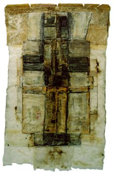 Bernd Sauerborn, Buchobjekt, 1997, Mischtechnik: pigmentiertes Wachs/Papier, 140 x 100 cm
