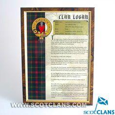 Logan Framed Clan History Print