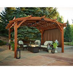 Sonoma Arched Pergola - 16x16 - Mocha | WoodlandDirect.com: Pergolas, The Outdoor GreatRoom #LearnShopEnjoy