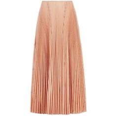 Cédric Charlier Nude Pleated Midi Skirt (2.349.720 IDR) ❤ liked on Polyvore featuring skirts, bottoms, red skirt, knee length pleated skirt, accordion pleated skirt, calf length skirts and pink pleated skirt