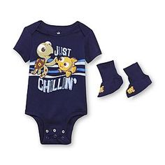 Disney Baby- -Newborn's Bodysuit & Booties - Finding Nemo