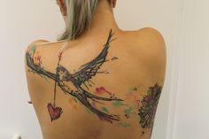 swallow watercolor tattoo justb heidelberg