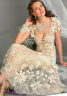 Russian Crochet Knitting Patterns Book Wedding Dress CardiganFashion Magazine555