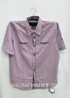 Koszula Męska TT99 Kr. Rękaw M-4XL - Koszule Sportowe - Sklep Onlinehurt