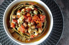 Artichoke in Spicy Tomato Broth - two ways #Vegan