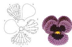 🌸 Flor de Crochê Amor Perfeito. / 🌸 Crochet of Perfect Love Flower.