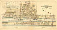 Wall Maps, Daytona Beach, Pigment Ink, Vintage World Maps, Canvas Prints, Fine Art, Paper, Photo Canvas Prints, Visual Arts