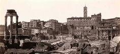 Foro Romano con el Templo de Cástor y Pólux y la Basílica Julia, 1890.