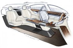 Volvo Concept You Interior Design Sketch.