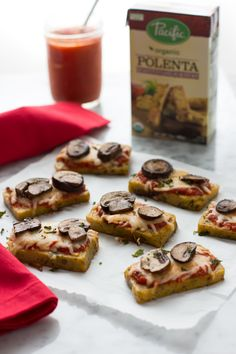 Guest blogger Jennie Phaneuf shares three simple steps to make delicious mini polenta pizza bites, which are perfect for after-school snack for the kiddos, easy weeknight meal, or game-day appetizer. http://bit.ly/1SUu7nW
