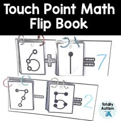 Touch Point Math flip book with large numbers so that they are easy to see! Touch Math, Touch Point Math, Math Games, Math Activities, Maths, Math Addition, Addition And Subtraction, Special Education Math, Autism Classroom