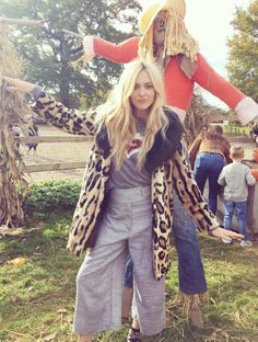 Fearne Just Introduced Us to the Perfect Trousers From Topshop - Fearne Cotton just wore the perfect leopard-print coat and Topshop trousers to a Halloween event. Modern Hippie Style, Modern Hippy, Hippy Style, Celebrity Summer Style, Fearne Cotton, Celebrity Style Inspiration, Style Ideas, Leopard Print Coat, Clothes