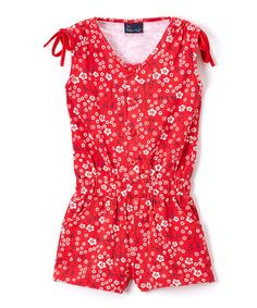 Another great find on #zulily! Red Small Floral Knit Romper - Infant & Toddler #zulilyfinds