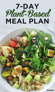 Enjoy the health benefits of this 7-Day Plant-Based Meal Plan. You'll feel great, and you might even discover some new favorite recipes! #plantbased #mealplan #menuplanning #easy #healthy #salads #veggies #vegetarian #breakfast #lunch #dinner #cleaneating #healthyrecipes