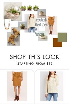 """""""Neutrals That Pack a Punch"""" by lnotb71 ❤ liked on Polyvore featuring Pilcro, Charlotte Russe and Deimille"""