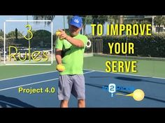 These three tips will go a long way to help you improve your pickleball serve. You want your pickleball serve to be consistent and repeatable. These tips wil. Tennis Games, Tennis Party, Tennis Clubs, Play Tennis, Tennis Accessories, Tennis Equipment, Tennis Workout, Project 4, Roger Federer