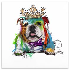Bulldog, Mixed Media