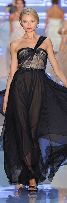 Christian Dior Spring 2012 black evening gown