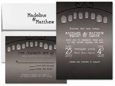 Mason Jar Lights Wedding Invitation  printparlor.com