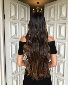 Hair Color For Black Hair, Dark Hair, Ombre Hair, Balayage Hair, Pretty Hairstyles, Straight Hairstyles, Curly Hair Styles, Natural Hair Styles, Caramel Hair