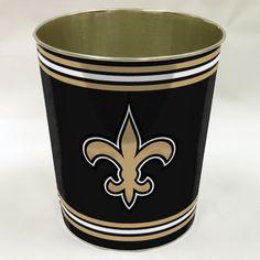 Nfl New Orleans Saints Metal Waste Basket