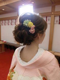 生花いっぱいの和装の前撮り at のの の結婚式 | City Wedding UMEDA 【京都神戸全国】 ブライダルヘアメイク出張☆メイクレッスン blog Korean Hairstyles Women, Asian Men Hairstyle, Try On Hairstyles, Dress Hairstyles, Pretty Hairstyles, Wedding Hairstyles, Japanese Hairstyles, Asian Hairstyles, Bridal Makeup